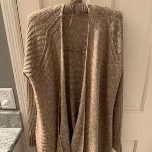 Free people knit cardigan brown/tan size medium